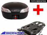 BikerFactory Kit portapacchi STEEL RACK e bauletto T RaY 48 lt SW Motech x KAWASAKI KLR 650 TRY.08.365.20000.03 B 1033913