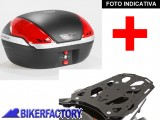 BikerFactory Kit portapacchi STEEL RACK e bauletto T RaY 50 lt SW Motech x TRIUMPH Tiger Explorer XC TRY.11.482.20001.04 B 1033935