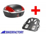 BikerFactory Kit portapacchi STEEL RACK e bauletto T RaY 50 lt. 2 caschi SW Motech x HONDA CRF1000L Africa Twin TRY.01.622.20000.04 B 1033691