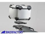 BikerFactory Kit portapacchi STEEL RACK e bauletto TOP CASE 38 lt in alluminio SW Motech TRAX ADVENTURE colore argento x BMW R 850 R 1100 GS R 1150 GS BAD.07.337.20003 S 1037929