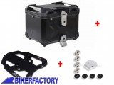 BikerFactory Kit portapacchi STEEL RACK e bauletto TOP CASE 38 lt in alluminio SW Motech TRAX ADVENTURE colore nero per BMW R 1200 GS %28%2704 %2712%29 BAD.07.352.20003 B 1042330