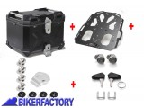 BikerFactory Kit portapacchi STEEL RACK e bauletto TOP CASE 38 lt in alluminio SW Motech TRAX ADVENTURE colore nero x HONDA XL 700 V Transalp BAD.01.465.20002 B 1037906