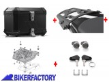 BikerFactory Kit portapacchi STEEL RACK e bauletto TOP CASE 38 lt in alluminio SW Motech TRAX EVO colore nero x BMW R 850 1100 1150 GS BAU.07.337.20003 B 1003251