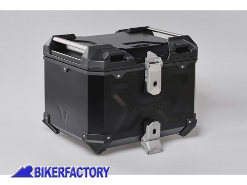 BikerFactory Kit portapacchi STREET RACK e bauletto TOP CASE 38 lt in alluminio SW Motech TRAX ADVENTURE colore nero per HONDA CB 650 F BAD.01.529.16000 B 1044557
