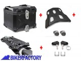 BikerFactory Kit portapacchi STREET RACK e bauletto TOP CASE 38 lt in alluminio SW Motech TRAX ADVENTURE colore nero per SUZUKI V Strom 250 BAD.05.908.16000 B 1041025