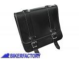 BikerFactory Borsa in pelle nera mod. POST PW.00.550 056 1027636