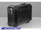 BikerFactory Borsa laterale moto in alluminio SW Motech TRAX Adventure 37 lt colore nero verniciata a polvere lato SINISTRO ALK.00.733.11000L B 1031278