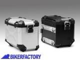 BikerFactory Borsa laterale moto in alluminio SW Motech TRAX Adventure 45 lt colore argento anodizzato lato DESTRO ALK.00.733.10000R S 1031277