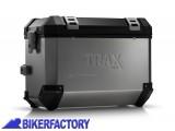 BikerFactory Borsa laterale moto in alluminio TRAX EVO colore alluminio 1012085