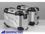 BikerFactory Kit Borse laterali in alluminio SW Motech TRAX ADVENTURE 37 37 colore ARGENTO KFT.07.559.70109 S 1032582