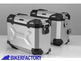 BikerFactory Kit Borse laterali in alluminio SW Motech TRAX ADVENTURE 37 37 colore ARGENTO per BMW F 650 GS Dakar e G 650 GS Sertao KFT.07.094.70009 S 1033342