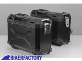 BikerFactory Kit Borse laterali in alluminio SW Motech TRAX ADVENTURE 37 37 colore NERO KFT.07.665.70109 B 1033347
