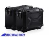 BikerFactory Kit Borse laterali in alluminio SW Motech TRAX ADVENTURE 37 45 colore NERO KFT.07.559.70009 B 1032581