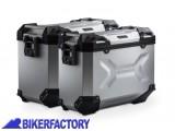 BikerFactory Kit Borse laterali in alluminio SW Motech TRAX ADVENTURE 45 37 colore ARGENTO KFT.05.294.70009 S 1032623