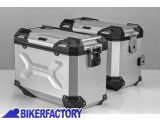 BikerFactory Kit Borse laterali in alluminio SW Motech TRAX ADVENTURE 45 45 colore ARGENTO KFT.11.483.70109 S 1033401