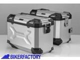 BikerFactory Kit Borse laterali in alluminio SW Motech TRAX ADVENTURE 45 45 colore ARGENTO per BMW F 650 GS Dakar e G 650 GS Sertao KFT.07.094.70109 S 1033344