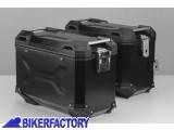 BikerFactory Kit Borse laterali in alluminio SW Motech TRAX ADVENTURE 45 45 colore NERO per BMW F 650 GS Dakar e G 650 GS Sertao KFT.07.094.70109 B 1033343