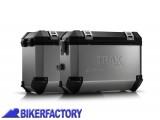 BikerFactory Kit Borse laterali in alluminio SW Motech TRAX EVO completo%2C specifico BMW F800R %28%2709 in poi%29 F800GT %28%2713 in poi%29 con telai EVO side carrier. 1010269