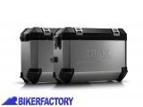 BikerFactory Kit Borse laterali in alluminio SW Motech TRAX EVO completo%2C specifico BMW K1300R %28 %2709 in poi%29%2C K1200R %28%2705 %2708%29%2C K1200R sport %28%2708 in poi%29 con telai EVO side carrier. 1010264