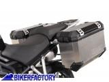BikerFactory Kit Borse laterali in alluminio SW Motech TRAX EVO completo%2C specifico BMW K1300S %28%2709 %2715%29 e BMW K1200S %28 %2705 %2708%29 con telai EVO SideCarrier. 1010254