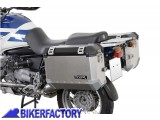 BikerFactory Kit Borse laterali in alluminio SW Motech TRAX EVO completo%2C specifico BMW R850GS e R1100 GS. 1003019