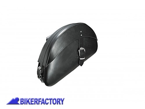 BikerFactory Coppia borse a bisaccia %28dx %2B sx%29 in pelle nera mod. HIGHWAY STAR PW.00.550 052 1027634