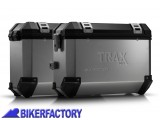 BikerFactory Kit Borse laterali in alluminio SW Motech TRAX EVO completo%2C specifico BMW F800S %28%2706 in poi%29 e F800ST%28%2707 in poi%29 con telai EVO side carrier. 1010276