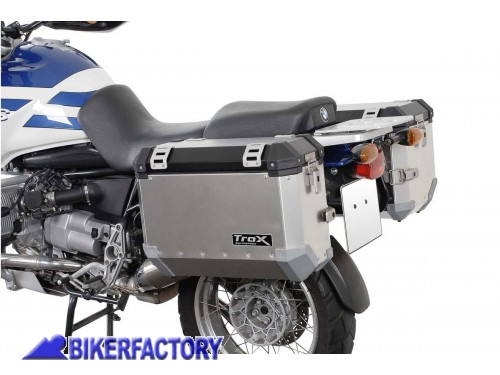 BikerFactory Kit borse laterali in alluminio SW Motech TRAX ION completo per BMW R850 GS R1100 GS R 1150 GS Adventure R 1150 GS 1003019