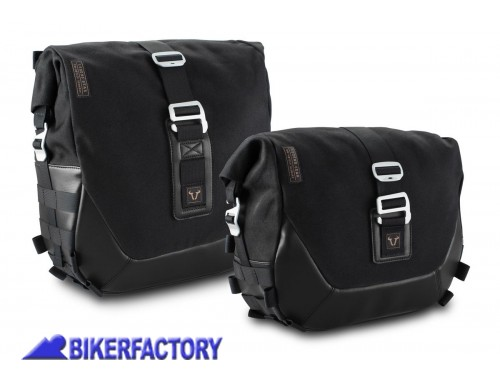BikerFactory Kit completo borse laterali SW Motech Legend Gear Black Edition LC2 sx %2813%2C5 lt%29 %2B LC1 dx %289%2C8 lt%29 %2B telai laterali SLC %28sx %2B dx%29 telai laterali SLC %28sx %2B dx%29 per HARLEY DAVIDSON Dyna Street Bob Special e Dyna Low Rider S BC.HTA.18.791.20300 1038324