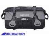 BikerFactory Borsa impermeabile OXFORD Aqua T50 colore antracite nero 50 lt OXF.00.OL991 1033536