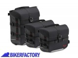 BikerFactory Kit borse SW Motech SysBag 10 15 10 colore nero antracite con cinghie incluse BC.SYS.00.002.15000 1038703