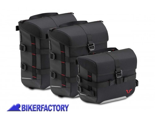 BikerFactory Kit borse SW Motech SysBag 15 15 10 colore nero antracite con cinghie incluse BC.SYS.00.002.15200 1038704