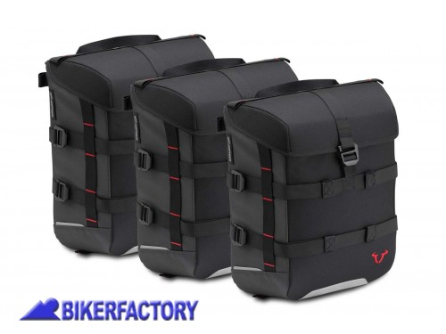 BikerFactory Kit borse SW Motech SysBag 15 15 15 colore nero antracite con cinghie incluse BC.SYS.00.002.15300 1038705