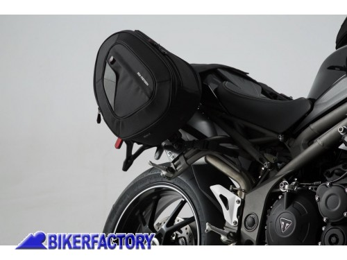 BikerFactory Kit borse laterali SW Motech Blaze H per TRIUMPH Speed Triple R %28%2715 %2717%29 BC.HTA.11.740.10801 B 1034699