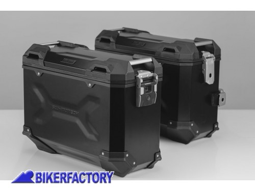 BikerFactory Kit borse laterali in alluminio SW Motech TRAX ADVENTURE 37 37 colore nero con telai PRO per KTM 1050 1090 1190 Adventure e 1290 Super Adventure KFT.04.333.70109 B 1032609