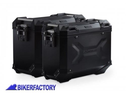 BikerFactory Kit borse laterali in alluminio SW Motech TRAX ADVENTURE 45 37 colore nero con telai PRO per HONDA CRF1100L Africa Twin Adventure Sport KFT.01.942.70009 B 1043875