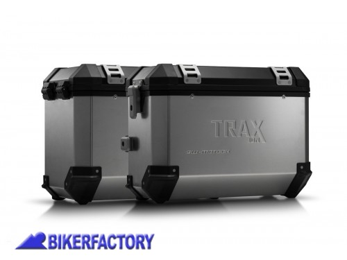 BikerFactory Kit borse laterali in alluminio SW Motech TRAX ION completo per BMW R 1200 GS R 1200 GS Adventure 1003001