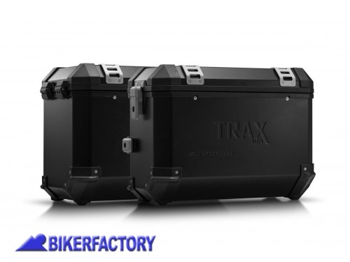 BikerFactory Kit borse laterali in alluminio SW Motech TRAX ION completo per BMW R 1200 GS R 1200 GS Adventure 1041752