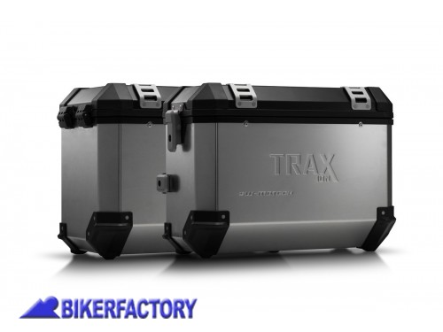 BikerFactory Kit borse laterali in alluminio SW Motech TRAX ION completo per KTM 620 Adventure 1012555