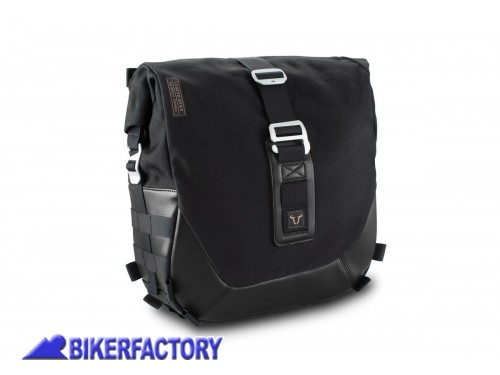 BikerFactory Kit completo borsa laterale SW Motech Legend Gear Black Edition LC2 sx %2813%2C5 lt%29 %2B telaio laterale SLC per YAMAHA XSR 900 Abarth BC.HTA.06.599.20300 1038248