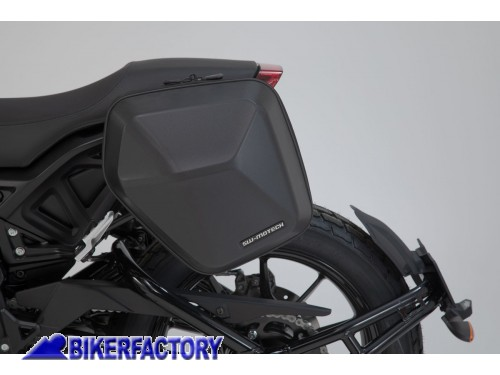 BikerFactory Kit completo borsa laterale SW Motech URBAN ABS %28sx%29 %2B telaio laterale SLC %28sx%29 per Indian FTR 1200 %28%2719 in poi%29 BC.HTA.20.935.30000 B 1042815