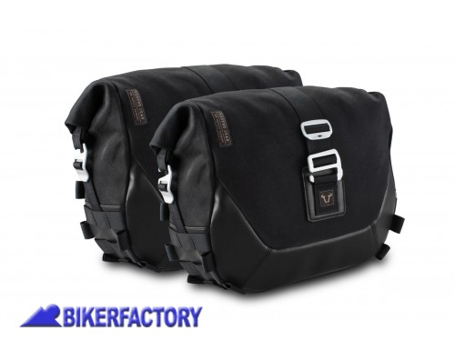 BikerFactory Kit completo borse laterali SW Motech Legend Gear Black Edition LC1 sx %289%2C8 lt%29 %2B LC1 dx %289%2C8 lt%29 %2B telai laterali SLC %28sx %2B dx%29 per MASH Black Seven Brown Edition Dirt Track Seventy Five Caf%C3%A9 Racer BC.HTA.42.905.20100 1040267