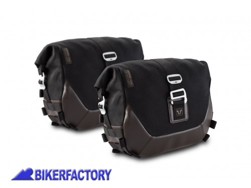BikerFactory Kit completo borse laterali SW Motech Legend Gear LC1 sx %289%2C8 lt%29 %2B LC1 dx %289%2C8 lt%29 %2B telai laterali SLC %28sx %2B dx%29 per MASH Black Seven Brown Edition Dirt Track Seventy Five Caf%C3%A9 Racer BC.HTA.42.905.20000 1040266