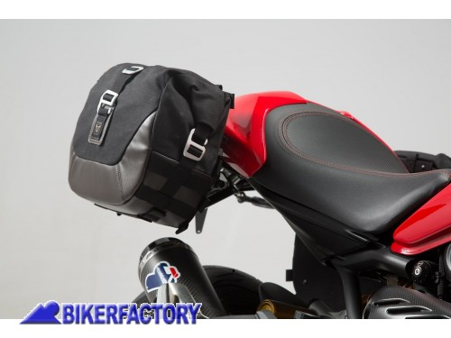 BikerFactory Kit completo borse laterali SW Motech Legend Gear LC2 sx %2813%2C5 lt%29 %2B LC1 dx %289%2C8 lt%29 %2B telai laterali SLC %28sx %2B dx%29 per DUCATI Monster 1200 S %28%2716 in poi%29 BC.HTA.22.885.20000 1038177