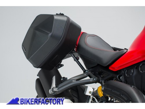 BikerFactory Kit completo borse laterali SW Motech URBAN ABS %28sx %2B dx%29 %2B telai laterali SLC %28sx %2B dx%29 per DUCATI Monster 1200 S %28%2716 in poi%29 e SuperSport S %28%2717 in poi%29 BC.HTA.22.885.30000 B 1038364