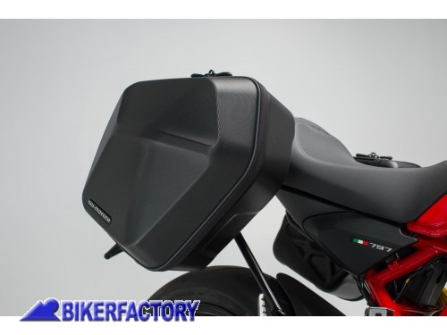 BikerFactory Kit completo borse laterali SW Motech URBAN ABS %28sx %2B dx%29 %2B telai laterali SLC %28sx %2B dx%29 per DUCATI Monster 797 BC.HTA.22.886.30000 B 1038365