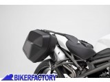 BikerFactory Kit completo borse laterali SW Motech URBAN ABS %28sx %2B dx%29 %2B telai laterali SLC %28sx %2B dx%29 per TRIUMPH Speed Triple 1050 S RS BC.HTA.11.901.30000 B 1039574
