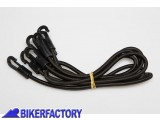 BikerFactory Kit cinghie elastiche di ricambio per borsa posteriore SW Motech SLIPSTREAM BC.ZUB.00.062.30000 1026906
