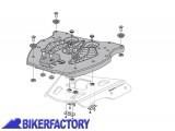BikerFactory Piatto adattatore per portapacchi SW Motech ALU RACK a sgancio rapido per Bauletti TRAX GPT.00.152.400 1000374