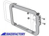 BikerFactory Kit adattatori %28funghetti e piastra%29 su telai originali HEPCO %26 BECKER%C2%A9 per borse AERO %28coppia Dx Sx%29 KFT.00.152.22600 B 1004058